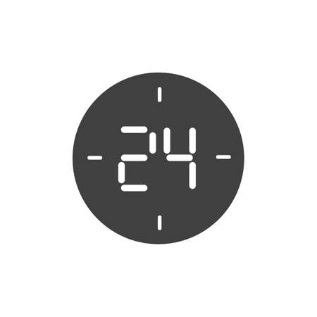 24 hours icon vector illustration isolated flat illustration graphic design