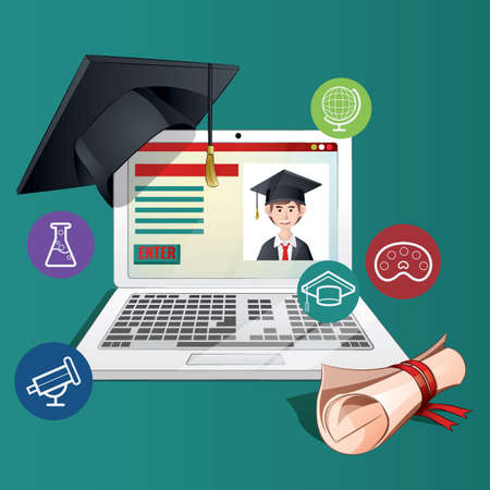 E-learning concept vector illustration