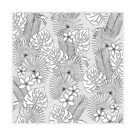 Intricate floral design vector illustration