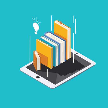 E-learning concept vector illustration