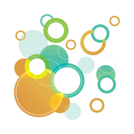 Abstract bubble colorful background design