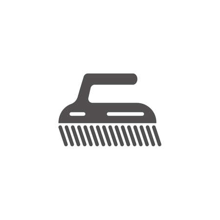 Cleaning brush vector illustration isolated flat illustration graphic design