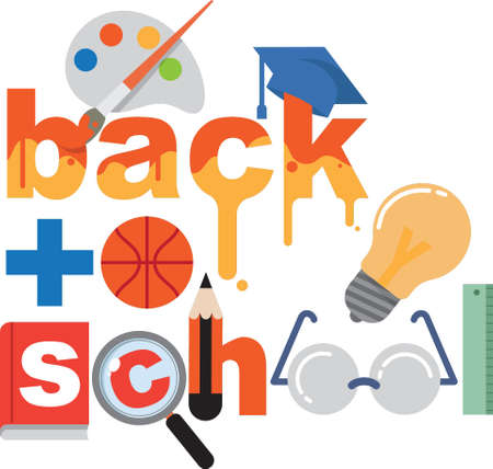 Back to school lettering design