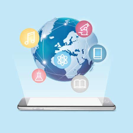 Globales E-Learning-Konzept Standard-Bild - 77317848