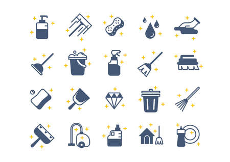 diamong: Set of cleaning tools vector