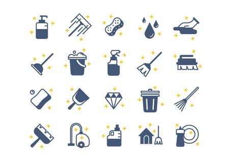 Set schoonmaakmiddelen vector