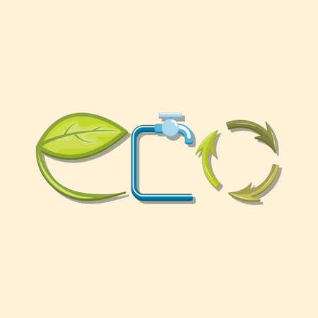 Eco lettering design