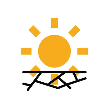 Drought vector illustration Ilustrace