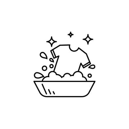 Wassen kleding vectorillustratie