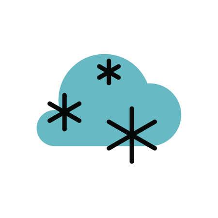 Snowstorm vector illustration