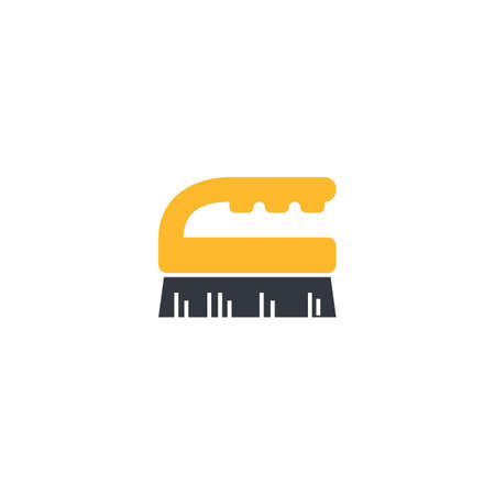 Hand brush, cleaning vector illustration