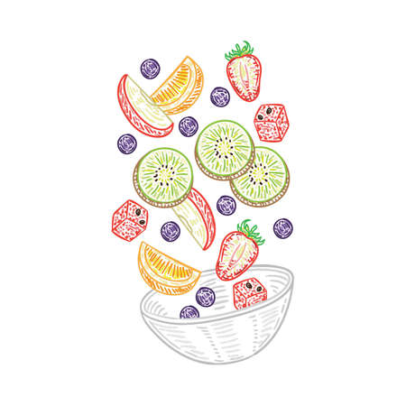 Tossed fruit salad Ilustração