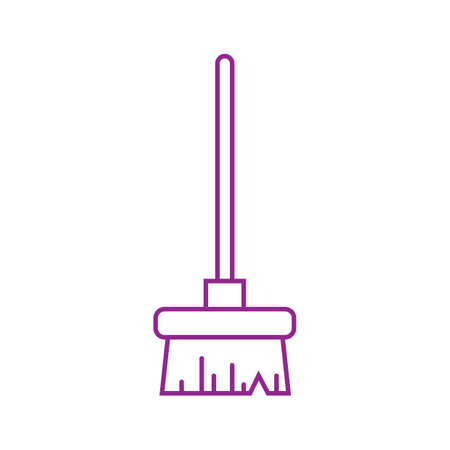 Broomstick cleaning vector illustration