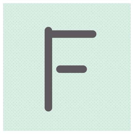 Letter F vector alphabet illustration Illustration