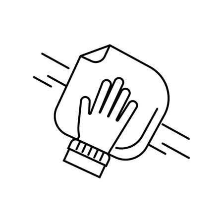 Hand cleaning with towel Ilustrace