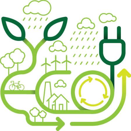 Go green lettering design Stock fotó - 77372441