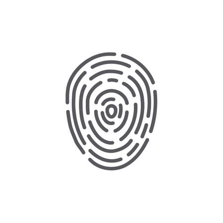 Thumb print, fingerprint. Vector illustration. Иллюстрация