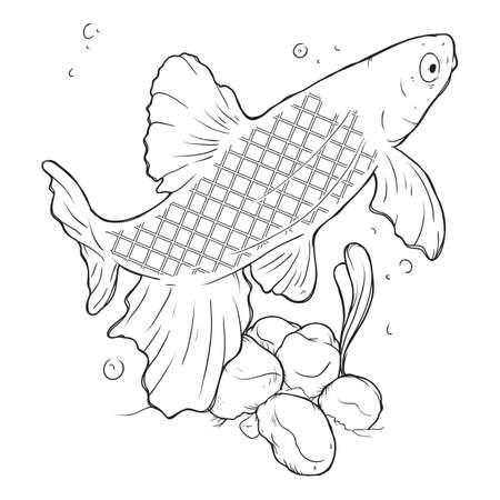 fish swimming design Stock Vector - 77372459