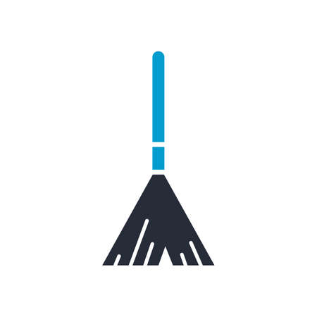 Broomstick vector illustration set