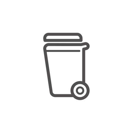 Rubbish bin vector illustration outline