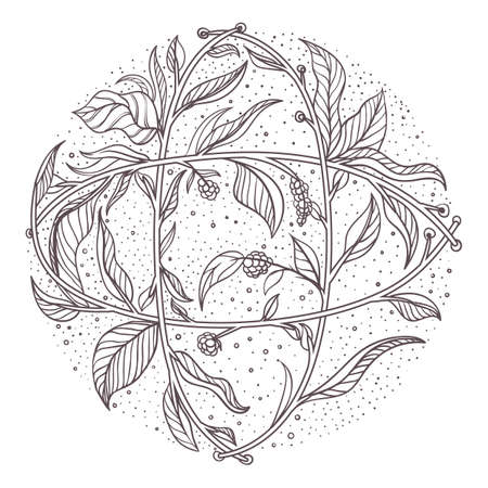Intricate leaves design Ilustrace