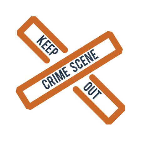犯罪シーンのテープ図  イラスト・ベクター素材