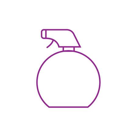 Minimalistic Vektorillustration der Sprühflasche Standard-Bild - 77372510