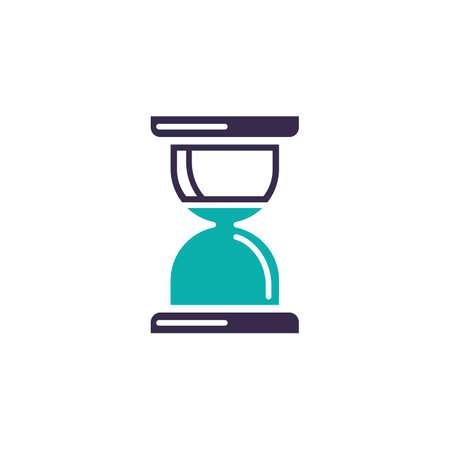 Hourglass vector icon illustration