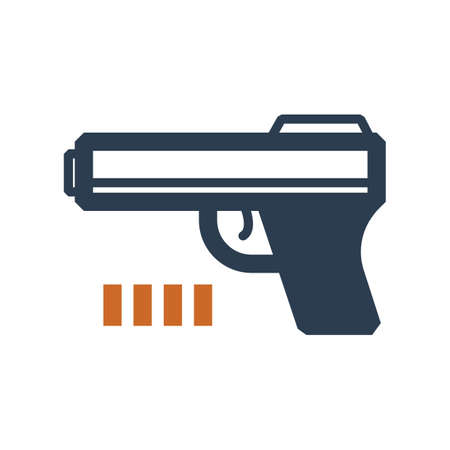 Simple handgun vector minimalism