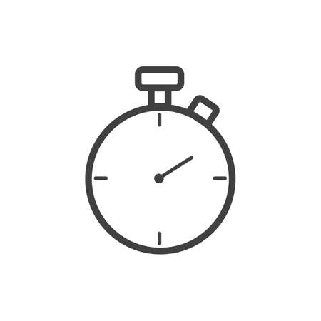 Stopwatch timer icon simple outline Illustration