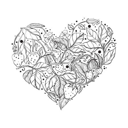 Intricate heart design pattern Imagens - 77372655
