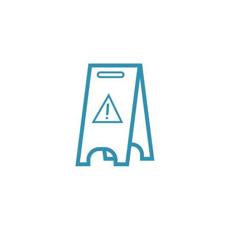 簡単な注意床スタンド デザイン  イラスト・ベクター素材
