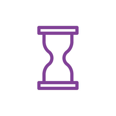 Simple hourglass icon outline design Illustration