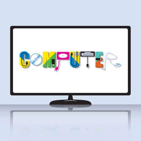 Computer lettering design typograph