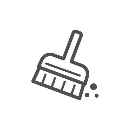 Hand brush vector icon Illustration