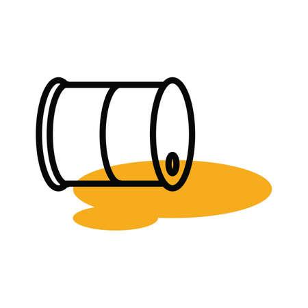 oil drum: oil spill