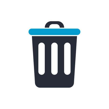 Rubbish bin vector illustration