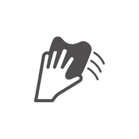 Hand wiping vector Illustration