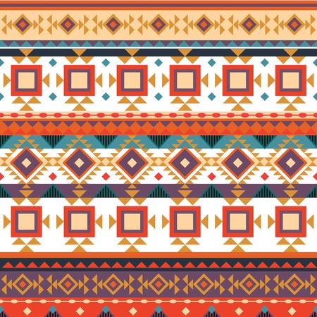 Seamless aztec background Ilustração