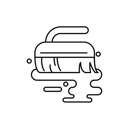 Hand brush vector icon illustration
