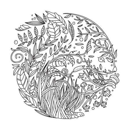 Diseño Intrincado De Las Hojas Ilustraciones Vectoriales, Clip Art ...