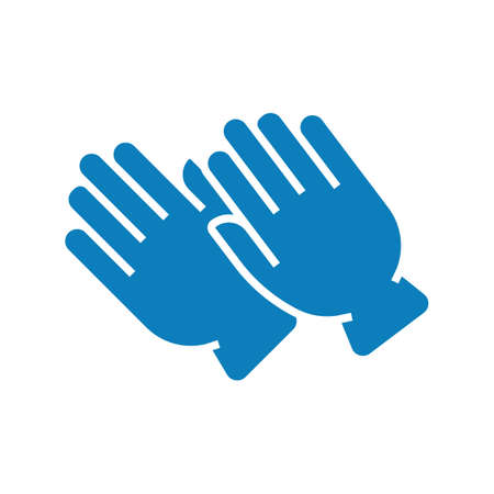 Washing gloves blue vector