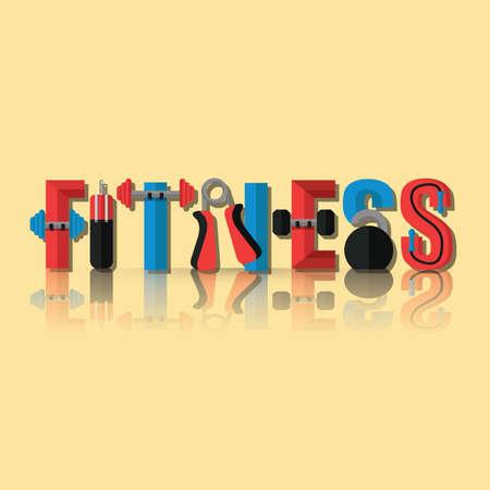 Fitness lettering design