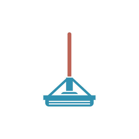 Wiper mop vector illustration Çizim
