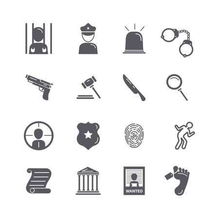 Collection of legal vector icons Illustration