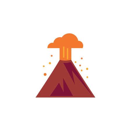 Ilustración del vector de la erupción volcánica Foto de archivo - 77372915