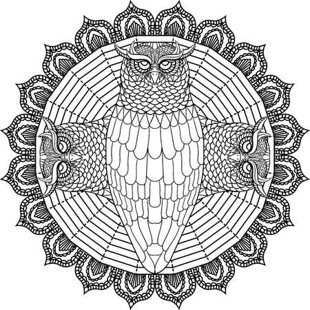Conception de hibou Intricate Banque d'images - 77372918