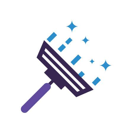 Window wiper vector illustration