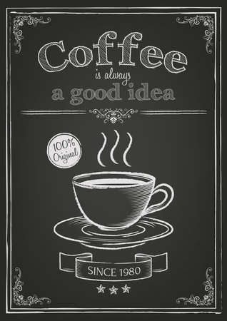 Coffee design with quote