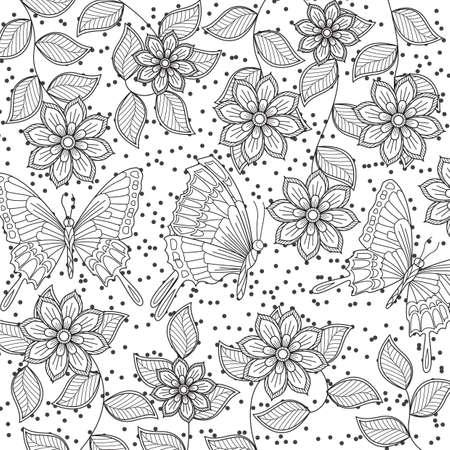 Diseño Intrincado De La Mariposa Ilustraciones Vectoriales, Clip Art ...